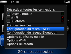 BlackBerry 9300 Curve 3G - WiFi et Bluetooth - Configuration manuelle - Étape 4
