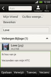 HTC A320e Desire C - E-mail - e-mail versturen - Stap 14