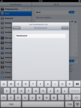 Apple iPad mini - Wifi - handmatig instellen - Stap 6