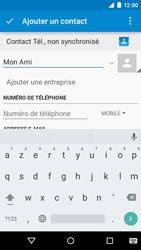 Motorola Moto E (1st Gen) (Lollipop) - Contact, Appels, SMS/MMS - Ajouter un contact - Étape 6