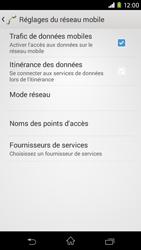 Sony Xpéria M2 - Aller plus loin - Désactiver les données à l'étranger - Étape 7