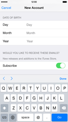 Apple iPhone 6 - Applications - Create an account - Step 16