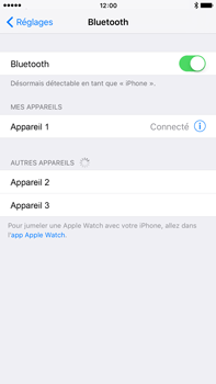 Apple Apple iPhone 6s Plus iOS 9 - Bluetooth - connexion Bluetooth - Étape 8