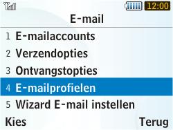 Samsung S3350 Chat 335 - E-mail - Handmatig instellen - Stap 6