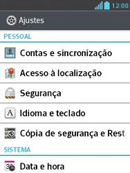 LG L1 II - Segurança - Como trocar o código PIN do seu celular - Etapa 4