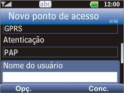 LG C365 - Internet - Como configurar seu celular para navegar através de Vivo Internet - Etapa 9