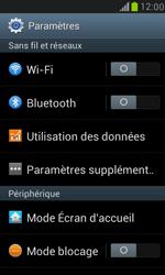 Samsung Galaxy S3 Mini - Internet et connexion - Accéder au réseau Wi-Fi - Étape 4