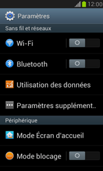 Samsung I8190 Galaxy S III Mini - Wifi - configuration manuelle - Étape 3