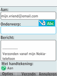 Nokia 301-1 - E-mail - E-mails verzenden - Stap 10