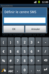 Samsung S6500D Galaxy Mini 2 - SMS - configuration manuelle - Étape 5
