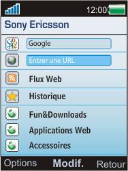 Sony Ericsson W595 - Internet - Navigation sur internet - Étape 3