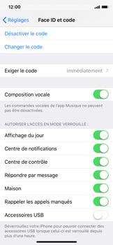 Apple iPhone XS - iOS 12 - Sécuriser votre mobile - Activer le code de verrouillage - Étape 8