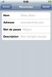Apple iPhone 3G S - E-mail - Configuration manuelle - Étape 7