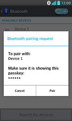 LG E460 Optimus L5 II - Bluetooth - Pair with another device - Step 8
