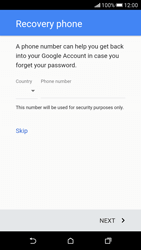 HTC Desire 626 - Applications - Create an account - Step 11