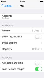 Apple iPhone 5c iOS 10 - Email - 032c. Email wizard - Outlook - Step 10