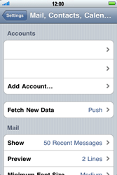 Apple iPhone 4 - Email - Manual configuration - Step 4