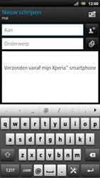 Sony LT22i Xperia P - E-mail - e-mail versturen - Stap 4
