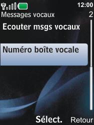 Nokia 6600i slide - Messagerie vocale - Configuration manuelle - Étape 5