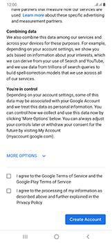 Samsung Galaxy A50 - Applications - Create an account - Step 15