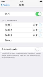 Apple iPhone iOS 8 - Wi-Fi - Como configurar uma rede wi fi - Etapa 5