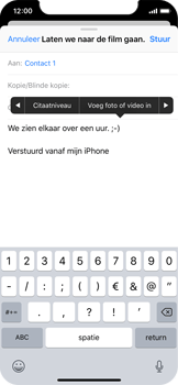 Apple iPhone X - E-mail - Bericht met attachment versturen - Stap 10
