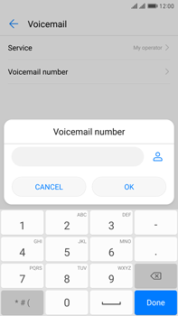 Huawei Mate 9 Pro - Voicemail - Manual configuration - Step 8
