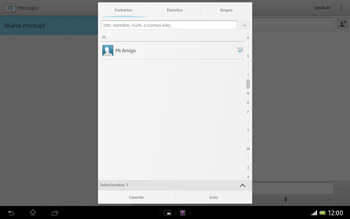 Sony Xperia Tablet Z - Mensajería - Escribir y enviar un mensaje multimedia - Paso 8
