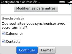 BlackBerry 9720 - E-mails - Ajouter ou modifier un compte e-mail - Étape 9