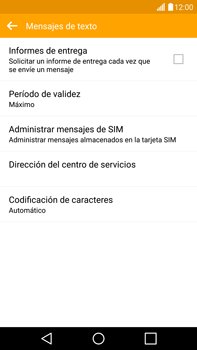 LG G4 - Mensajería - Configurar el equipo para mensajes de texto - Paso 7
