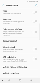 Samsung Galaxy S8 - Android Oreo (SM-G950F) - NFC - NFC activeren - Stap 5