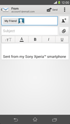 Sony D2303 Xperia M2 - Email - Sending an email message - Step 8