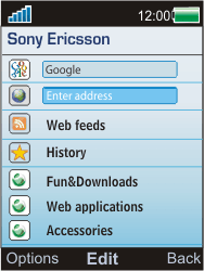 Sony W595 - Internet - Internet browsing - Step 3