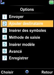 Bouygues Telecom Bc 101 - Contact, Appels, SMS/MMS - Envoyer un SMS - Étape 7