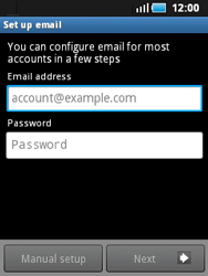 Samsung S5570 Galaxy Mini - E-mail - Manual configuration - Step 5