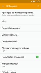 Samsung Galaxy S5 - SMS - Como configurar o centro de mensagens -  6