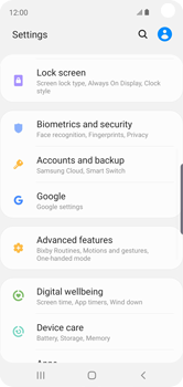 Samsung Galaxy S10e - Data - Create a backup with your account - Step 4