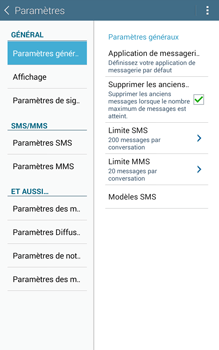 Samsung T335 Galaxy Tab 4 8-0 - SMS - Configuration manuelle - Étape 6