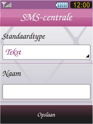 Samsung S7070 Diva - SMS - Handmatig instellen - Stap 9