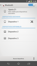 Sony Xperia Z1 - Bluetooth - Conectar dispositivos a través de Bluetooth - Paso 8
