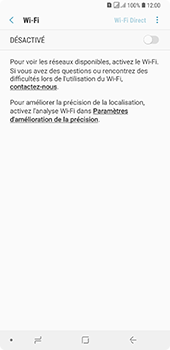 Samsung Galaxy A7 (2018) - Wifi - configuration manuelle - Étape 5