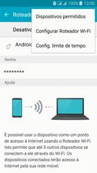 Samsung Galaxy J3 Duos - Wi-Fi - Como usar seu aparelho como um roteador de rede wi-fi - Etapa 7