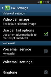 Samsung S6810P Galaxy Fame - Voicemail - Manual configuration - Step 6