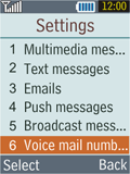 Samsung B2100 Xplorer - Voicemail - Manual configuration - Step 5