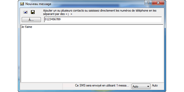 ZTE MF190 - Contact, Appels, SMS/MMS - Envoyer un SMS - Étape 7