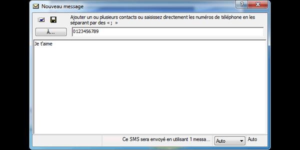 Alcatel OT-X500D - Contact, Appels, SMS/MMS - Envoyer un SMS - Étape 7