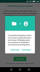 Huawei Y6 (2017) - Aplicações - Como configurar o WhatsApp -  6