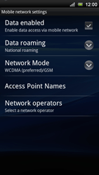 Sony Ericsson Xperia Neo V - Network - Usage across the border - Step 6