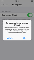 Apple iPhone 5 iOS 10 - Device maintenance - Back up - Étape 12