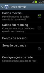 Samsung I8190 Galaxy S III Mini - Rede móvel - Como ativar e desativar uma rede de dados - Etapa 6